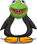Kermit the Frog Head from a Player Card