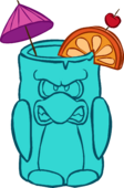 Blue Tropical Cup icon