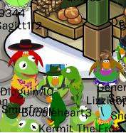 Encuentro con Kermit en Cloudy