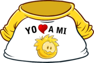 I Heart My Gold Puffle T-Shirt icon es