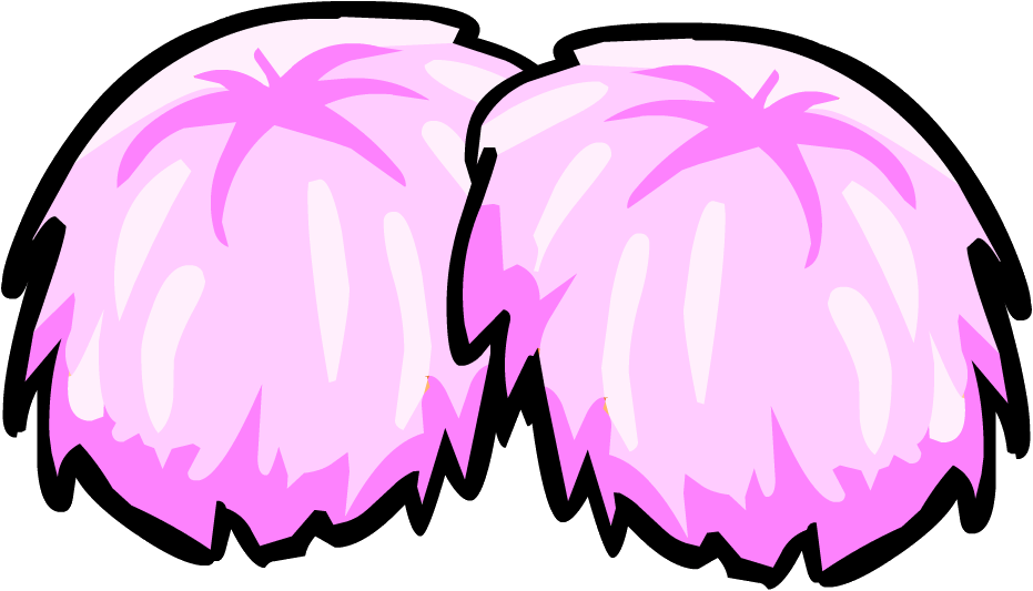 pink pompoms club penguin wiki fandom powered by wikia rh clubpenguin wikia com cheerleader clipart pom poms pom poms clipart black and white