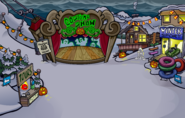 Black Puffle in Halloween Party 2009 Ski Village