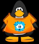 Camiseta de Puffle Pixelado carta