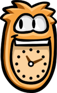 Orange Puffle Clock No background