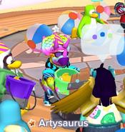 Artysaurus en la Isla