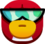 Emoticón de Pingüino Jet-Pack neutral