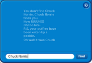 Friend List 2011 Chcuck Norris error