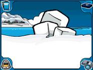 Iceberg ice chunks