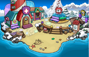 Playa fiesta de puffles