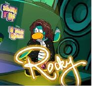 Rocky en la pantallad de inicio