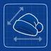 Blueprint Santa Hat icon