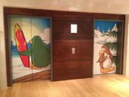 Club Penguin HQ Antiguo Ascensor