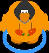 Orange O'berry Hoodie in-game