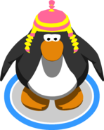 Pink and Yellow Chullo in-game