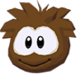 Brown puffle 3d icon