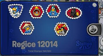 Club Penguin Regice 12014 Stampbook Cover 2