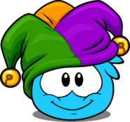 Jester Hat (Puffle Hat) in Puffle Interface