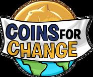 Logo Coins for Change 2007 sin pingüinos