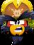 Emoticón de Rockhopper enojado