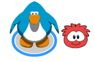 Red puffle when handeled