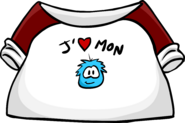 I Love My Puffle T-Shirt icon fr