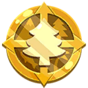 Calcomanía Medalla medio ambiente icono