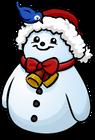 Santa Hat Snowman sprite 002