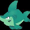 Tiburón Calcomanía Playa