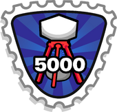 Club Penguin Top Volunteer stamp