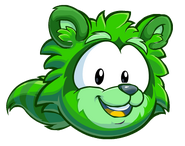 Puffle Mapache Verde