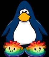 Pantuflas de Puffle Multicolor tarjeta