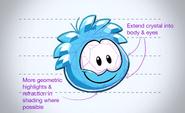 Blue Crystal Puffle refsheet