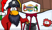 Rockhopper donating to Coins For Change - December 2009