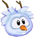 Wht snowman 3d icon