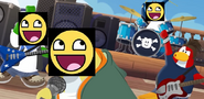 Epic face penguin band