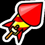 Firework Rocket Pin
