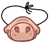 Funny Pig Snout clothing icon ID 2016