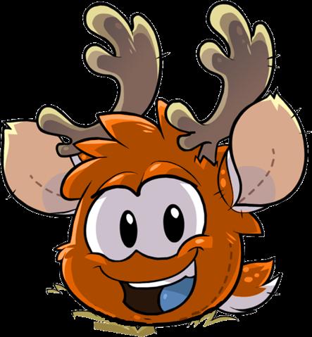 OrangePuffle Orange Reindeer Puffle