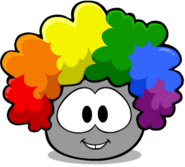 Rainbow Fro Grey Puffle