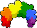 Rainbow Fro Puffle Hat Icon