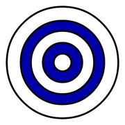 Blue Target Background