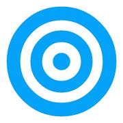 Blue Target Background Old