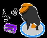 Purple Boom Box In Game Dance