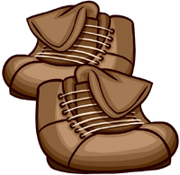 Brown Leather Boots Icon