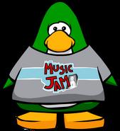 Music Jam T-Shirt Player Card