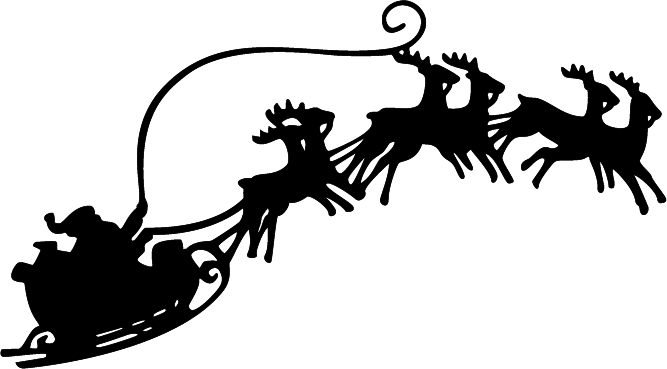 Image result for santa sleigh png