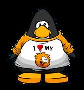 I Heart My Orange Puffle T-Shirt Player Card