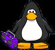 Purple Boom Box Player Card