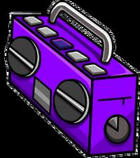 Purple Boom Box Icon