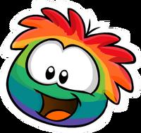 RainbowPufflePin